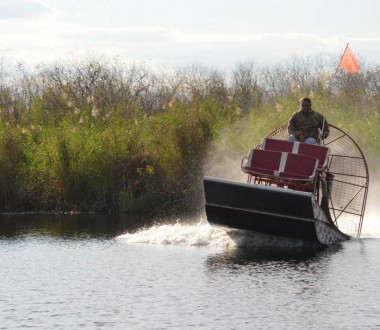 Get ready for a thrilling airboat ride!