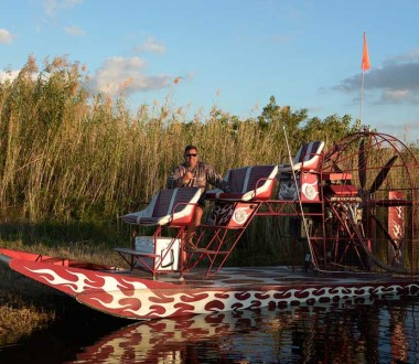 Out airboat ride pilot, Captain Wayne